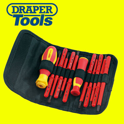 Draper 55101 12 Pce VDE Insulated Interchangeable Blade Screwdriver Set PZ/PH/SL