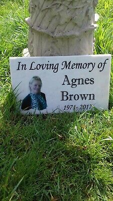 Solid Engraved Memorial Grave Plaque Headstone Engraved Personalised Any Wording