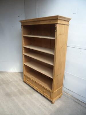 A Beautifully Waxed Antique/Old Pine Adjustable Bookshelf/Office Boxfile Storage