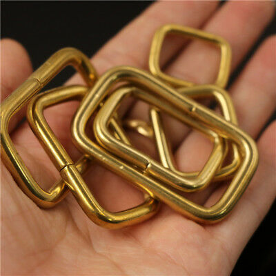 20PC Brass metal formed rectangle ring buckle loops webbing leather craft buckle