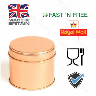 100ML 10 Candle Tins Rose Gold Round Container Tin Round Step Lid Welded Seam