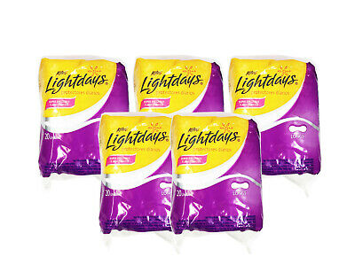 New Kotex Lightdays Daily Protectors Long, 20 Pads (Pack of 5)