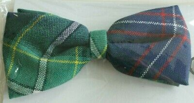 Gents Tartan Bow Tie 100% Pure Wool Pre Tied with Adjustable Neck Strap