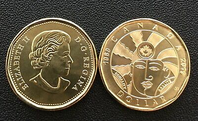 New 2019 Dollar $1,00 Equalite Coin Canada Loonie By Artist Joe Average