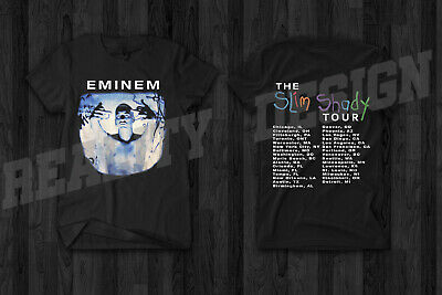 EMINEM THE SLIM Shady Lp Album 1999 T-Shirt With Song Title