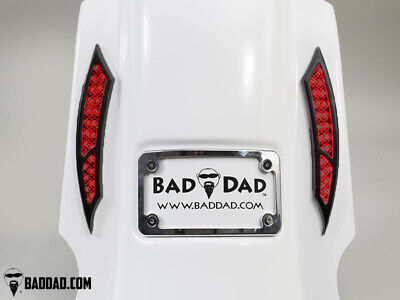 Bad Dad Summit Saddlebag Kit w/ 992 Black Taillights & Chrome Plate 200mm FLS
