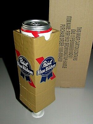 "NIB Rare Pabst Blue Ribbon PBR ""Tall Can In A Bag"" Beer Bar Tap Handle Kegerator"