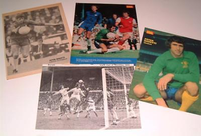 Chelsea Fc Legend Peter Bonetti Collection Of Four Magazine Posters
