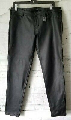 c172164c30c62d Celebrity Pink Black Faux Leather Polyurethane Skinny Pants Size 13/31 NEW  NWT
