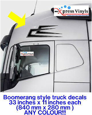 side window graphics daf scania volvo man TWO PEDALS HOTEL truck decals x 2