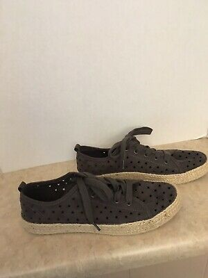 68faf311d725 Women's 11M Jena Espadrille Sneakers Universal Thread Gray Star Perforated  Shoes
