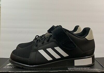 best service 43d88 10bb8 Adidas Power Perfect 3 Weightlifting Shoes Men s Size 13 Black White Bb6363