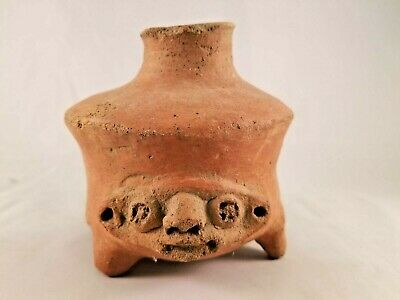 Amazing Pre-Colombian Pottery Face Jug
