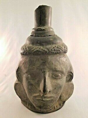 Amazing Pre-Colombian Pottery Face Motif Jug