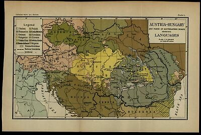 Austria Hungary Austro-Hungarian language boundaries ethnic linguistics 1915 map