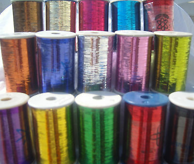 15 Spools of LUREX  High Quality Thread 4000 Meters each, 15 Different Colours