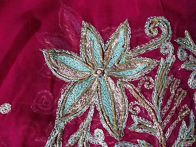 Long Masoori Dupatta//head cover ladies Scarf Dull Gold With Tilla And Sequins