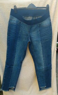 Next Maternity Under the Bump Slim Slouch Jeans  Blue Size 12 Reg BNWT RRP £32
