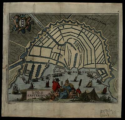 Amsterdam Nederland Netherlands 1711 Harrewyn Foppens charming small city plan