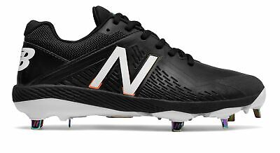 New Balance Low-Cut Fuse1 Metal Softball Cleat Womens Shoes Black with White