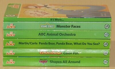 Lot of 6 Leap Frog Tag Junior board books George Cars ABC Martin Carle If I Were