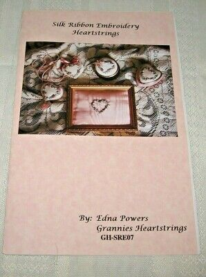 Silk Ribbon Embroidery~~Heartstrings Pendant~~Instructions Only~~Vgc