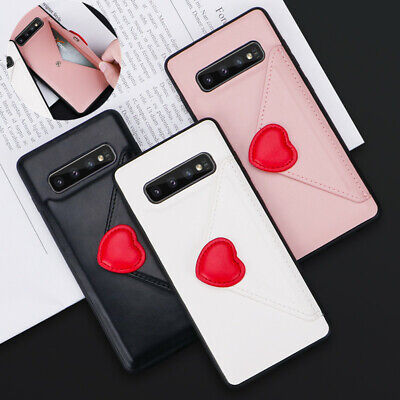 Card Flip For Samsung Galaxy S10 Plus S10E Note 9 Soft Leather Phone Case Cover