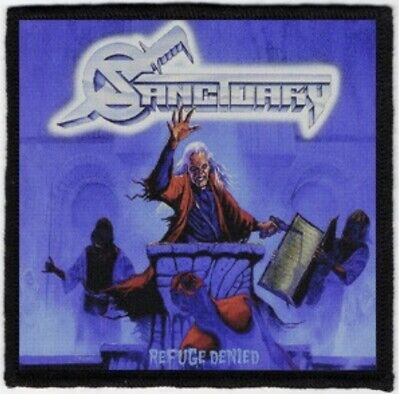 Sanctuary Refuge Denied Printed Patch S076P Nevermore Megadeth Arch Enemy