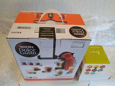 NESCAFE Dolce Gusto Piccolo Manual Coffee Machine by Krups - Red+16 new capsules