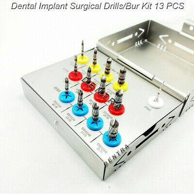 Dental Implant Bur Drills Surgical Parallel Wall kit Expander Hex 13 Pcs CE