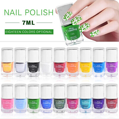 7ml Stamping Vernis à Ongles Polish Non Toxique Stamp Pochoir Tampon Nail Art