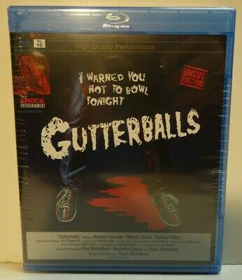 GUTTERBALLS BluRay DVD 2 Disc Import All Region OOP cult gore UNCUT New sealed