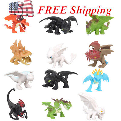 How To Train Your Dragon Night Fury ction Figure Cake Topper Gift 12 PCS AToy US