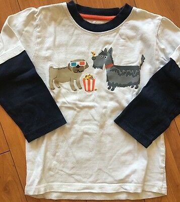 Gymboree Boys Layered White & Blue Long Sleeve With Dogs Size 4T