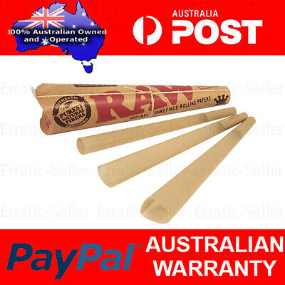 2x RAW Pre-Rolled Classic Cones - Total 6 Cone Papers King Size Joint Blunt