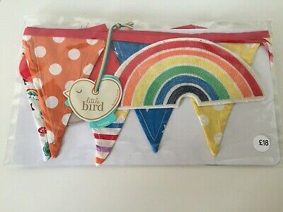 Little Bird Rainbow Nursery Bunting Flag Decoration - Jools Oliver At Mothercare