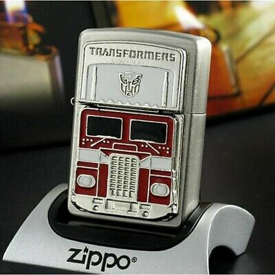 Zippo Lighter Silver Transformers Optimus Prime Limited Edition - US Shipping