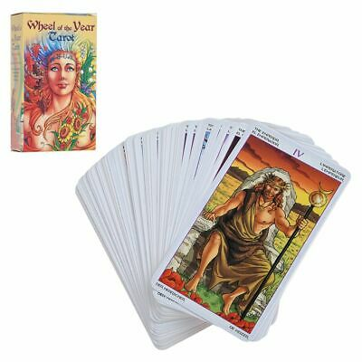 Wheel of the Year 78pcs Cards Tarot Deck Card Future Telling Game in 5 Language