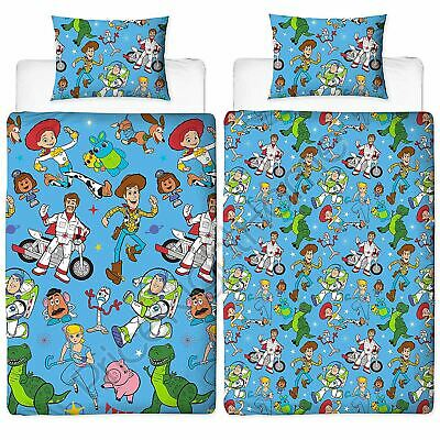 Toy Story 4 Rescue Single Duvet Cover Set Rotary Reversible Bedding