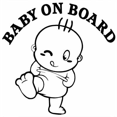 Baby On Board Cute Car Stickers And Decals