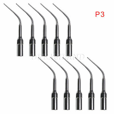 10PCS Dental Ultrasonic Scaler Perio Tips P3 Fit EMS/WOODPECKER Handpiece UK NEW