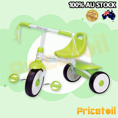 Green Foldable Kid Child 3 Wheel Bike Trike Tricycle with trailer Ride On Toy