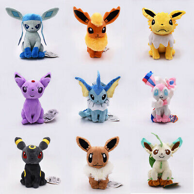 "8"" Pokemon sitting Jolteon Flareon Glaceon Umbreon Espeon Sylveon Plush Toys"