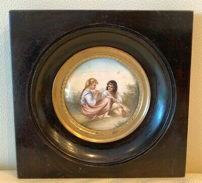 Exquisite Antique 1800's French Miniature Painting