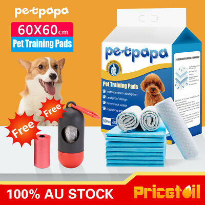 OZ Premium 50/100/200/400 Puppy Pet Dog Cat Toilet Potty Training Pads 60x60cm