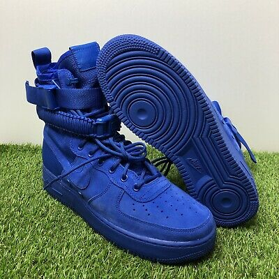 reputable site ce14d 49481 Nike SF AF1 Casual Mens Air Force 1 Special Field Boots Blue 864024-401 Size