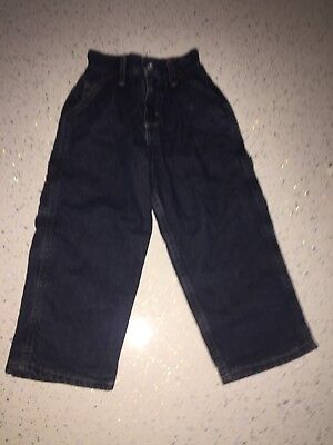 OSHKOSH TODDLER Boys Slim Straight Fit Jeans AGE 2YRS W18 L15 Blue Denim Lined