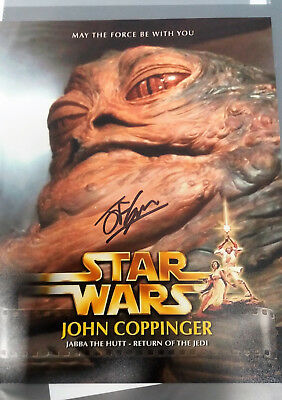 STAR WARS AUTOGRAMM JOHN COPPINGER Jabba the Hutt RotJ auto autograph