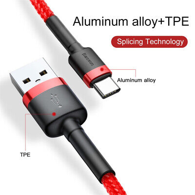 BASEUS USB TYPE-C Fast Charge Charging Cable For Samsung Galaxy A20 A30 A50 A70