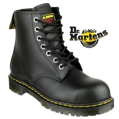 Dr Doc Martens DM ICON 7B10 Airwair Black 7 Hole Safety Steel Toe Boot |3-15|